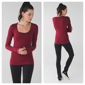 Lululemon Anahatasana Top Heathered Cranberry
